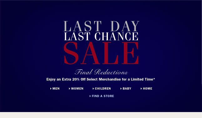 LAST DAY Last Chance Sale - Final Reductions