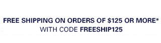 Free Shipping on orders of $125 or more*