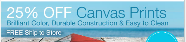 25% OFF Canvas Prints Brilliant Color, Durable Construction & Easy to Clean. FREE Ship to Store