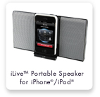 iLive™ Portable Speaker for iPhone®/iPod®